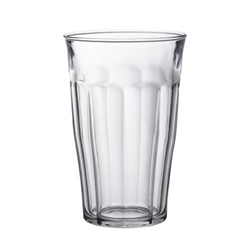 Picardie Set of 6 glass tumblers, D9.4 x H14.5cm - 50cl, clear glass
