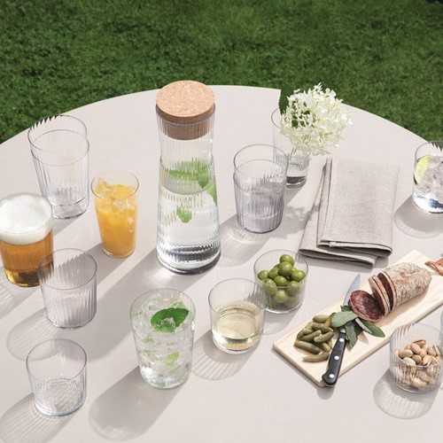 Gio Line Set of 4 tumblers, 560ml, clear