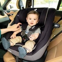 Spin Safe R44 0+/1 Spinning car seat, H53 x W46 x D68cm, Black Pepper