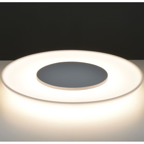 Saturn Table light & wireless charging plate, H2 x W18 x D18cm, White