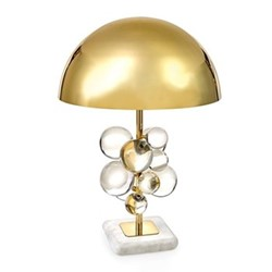 Globo Table lamp, W45.72 x H63.5cm, clear/polished brass