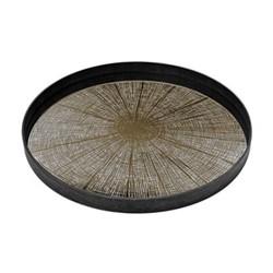 Slice Mirror tray, D61 x 4.5cm, bronze