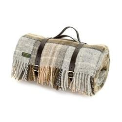 Tartan Picnic rug, L145 x W183cm, mckellar / brown