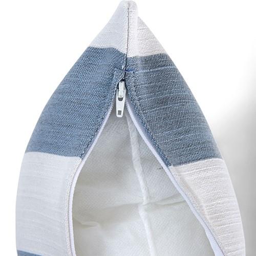 Evie Stripe Outdoor cushion, H45 x W45cm, Flax
