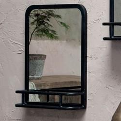 Demsa Small mirror with shelf, 60 x 45 x 12cm, iron