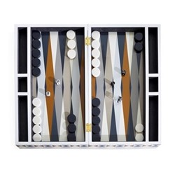 Bowtie Backgammon set, H11 x W47 x L28cm, black