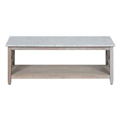 Herston Coffee table, H45 x W125 x D60cm, marble & chalked oak
