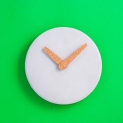 Plain & Simple Wall clock, D23.5 x H3cm, grey