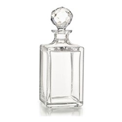 Oxford Whisky decanter, H26 x D9.5cm - 0.8 litre, clear/gold