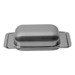 Original Vintage Butter dish, L12 x W6cm, stainless steel