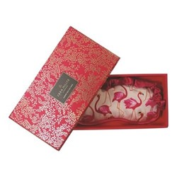 Flamingo Silk eye mask, 21 x 9.5cm, pink
