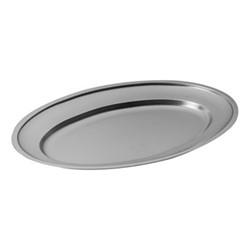Original Vintage Oval platter, L40 x W27cm, stainless steel