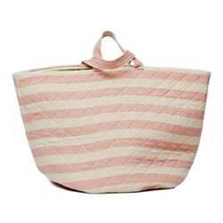 Fastnet Stripe Storage basket, 70 x 40cm, rose