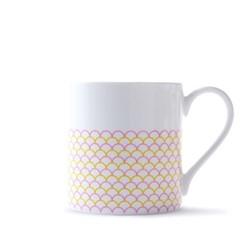 Ripple Mug, H9cm - 37.5cl, pink/yellow