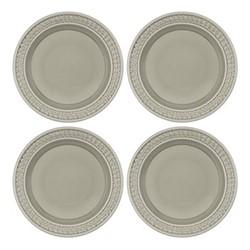 Botanic Garden Harmony Set of 4 plates, 27cm, stone