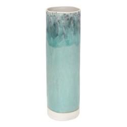 Madeira Cylinder vase, 30cm, blue