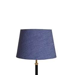 Straight Empire Lampshade, 30cm, deep sea chambray
