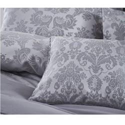 Damask Jacquard Pair of pillowshams, 50 x 75cm, silver