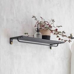 Adelphi Wall shelf, H7 x W50 x D20cm, Black