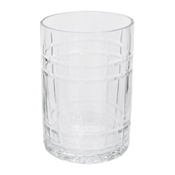 Cut Glass Toothbrush holder, D7 x H10cm, clear