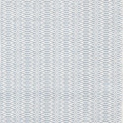Fair Isle Woven cotton rug, W244 x L305cm, swedish blue/ivory