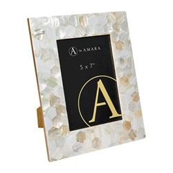 """Mother of Pearl Photo frame, 5 x 7"""""""