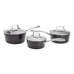 Rocktanium Non-Stick 3 piece saucepan set, aluminium