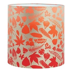Falling Leaves Lampshade, 36 x 36cm, pebble/chilli ombre