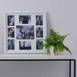 Shaftesbury Multi aperture photograph frame, 58 x 58cm, white