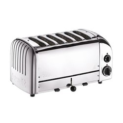 Classic Vario 6 slot toaster, polished stainless steel