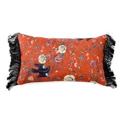 Black Bird Rectangular cushion, L50 x W30cm, multi
