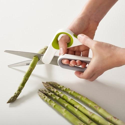 PowerGrip Kitchen scissors, H22.4 x W9.1 x D1.8cm, white