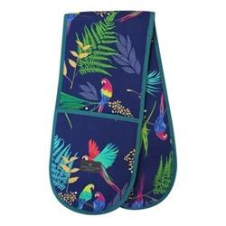Parrot - Repeat Double oven glove, 18 x 88cm, blue