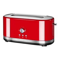 Manual Control Long slot toaster, empire red