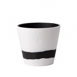 Burlington Planter, 10cm, black/white