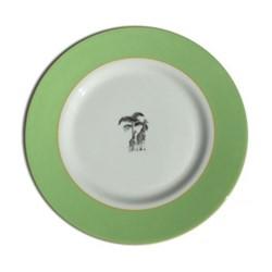 Harlequin - Green Giraffe Dinner plate, D26cm, green