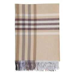 Checked Cashmere throw, 190 x 140cm, aultmore