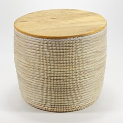 La Prairie Round storage table, H43 x Dia48cm, natural