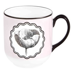 Herbariae Mug, H10 x D9cm, pink