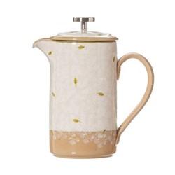 Lawn Large cafetiere, H21.6 x W11.4cm - 1 litre, white