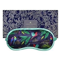 Parrot Silk eye mask, 21 x 9.5cm, blue