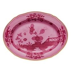 Oriente Italiano Oval platter, 34cm, porpora