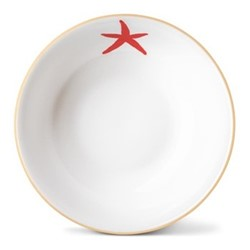 Starfish Cereal bowl, Dia16 x H5.5cm, gold rim