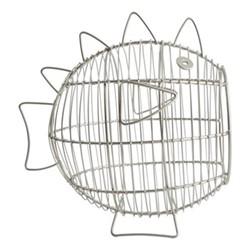 Ocean Wire basket, W17 x L24cm, satin grey