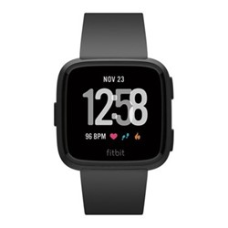 Fitbit Versa Health & fitness smartwatch with heart rate monitor, W4.1 x D25.6cm, black aluminium