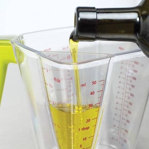 Elevate 2 in 1 measuring jug, 1 litre, clear
