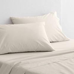 300 Organic Percale Single european pillowcase, 50 x 75cm, sand