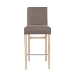 Shoreditch Bar stool with back rest, H99 x W42 x D50cm, spelt