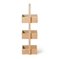 Mezza 3 tier caddy, H84 x W22 x D26cm, oak