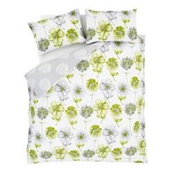 Banbury Floral King size duvet set, 220 x 230cm, green